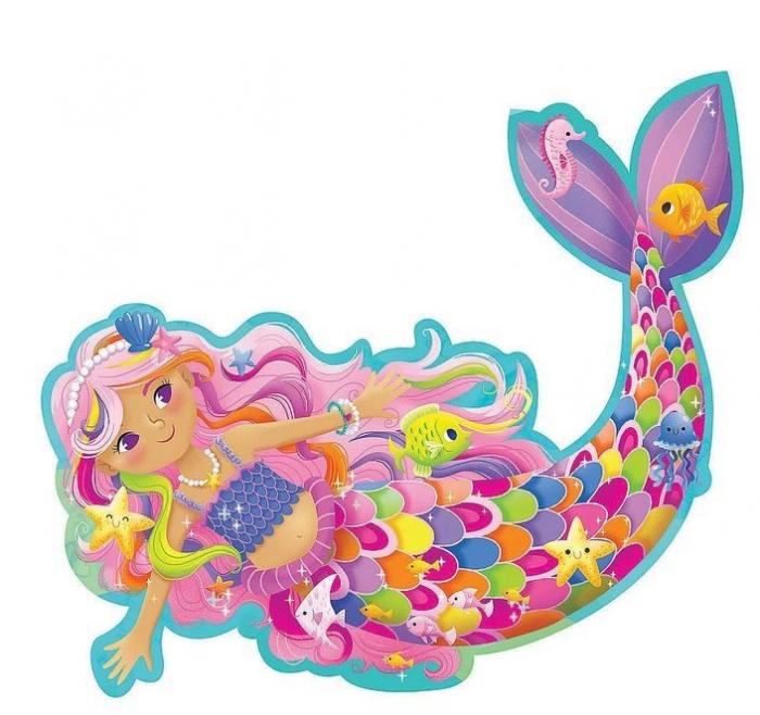 Magical Mermaid - Sirena magică, puzzle mare de podea 2