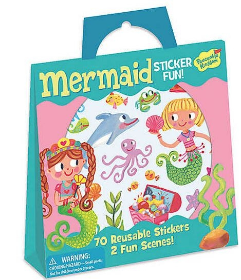 Mermaid Reusable Sticker Tote 0