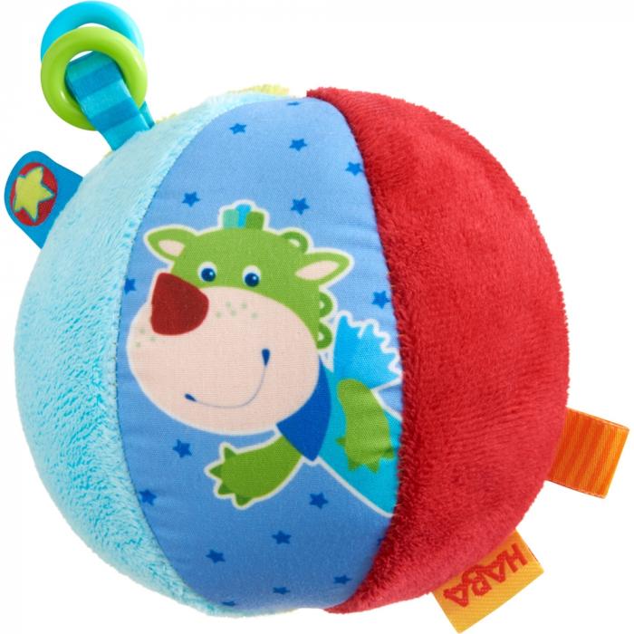 Minge pufoasă cu activităţi pentru bebeluşi – Şoricelul Merlie și Dragonul Duri - Haba 0