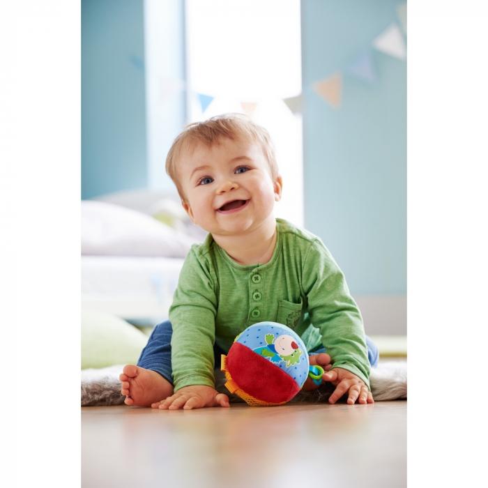 Minge pufoasă cu activităţi pentru bebeluşi – Şoricelul Merlie și Dragonul Duri - Haba 1