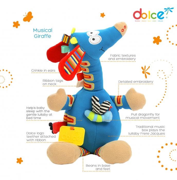 Girafă muzicală, jucărie senzorială 1