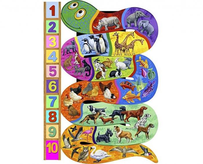 Numerele, puzzle din lemn Wentworth, 40 de piese 0