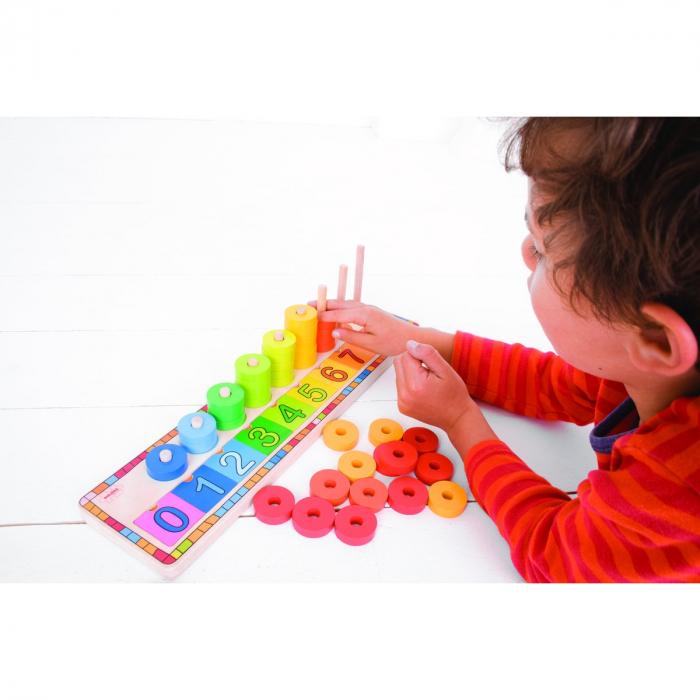 Numărătoarea cu discuri colorate 2