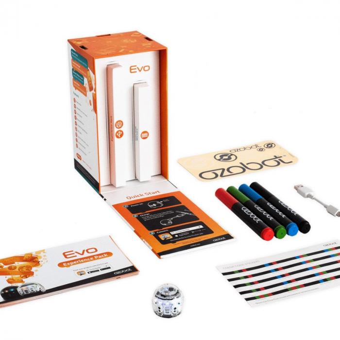 Ozobot Evo smart mini robot - Crystal White:Starter Kit 1