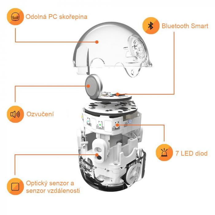 Ozobot Evo smart mini robot - Crystal White:Starter Kit 3