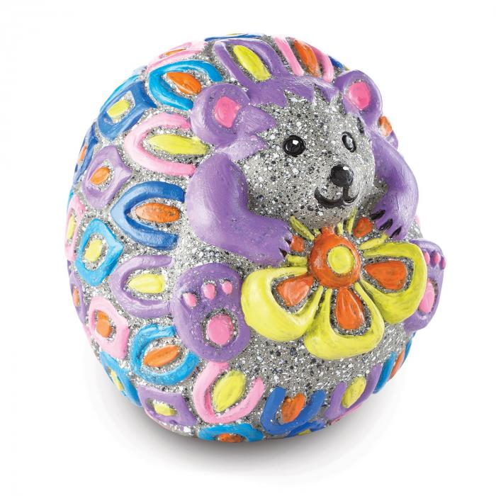 Paint Your Own Stone: Hedgehog,  decorațiune pentru pictat, din piatră, pentru grădină 1