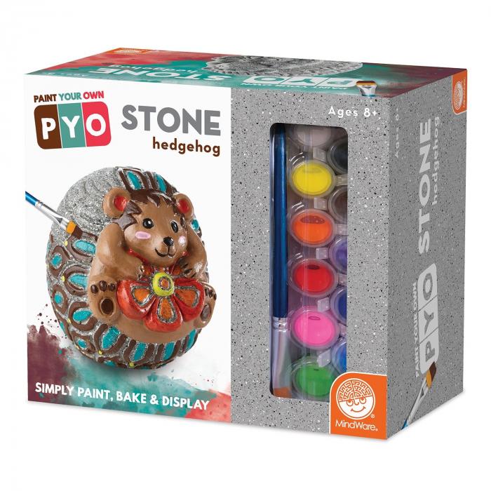 Paint Your Own Stone: Hedgehog,  decorațiune pentru pictat, din piatră, pentru grădină 0