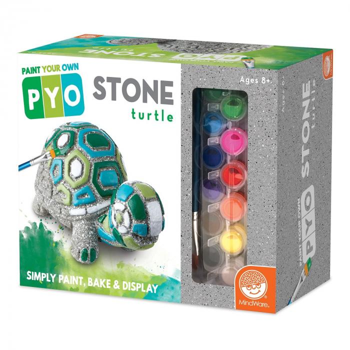 Paint Your Own Stone: Turtle,  decorațiune pentru pictat, din piatră, pentru grădină 0