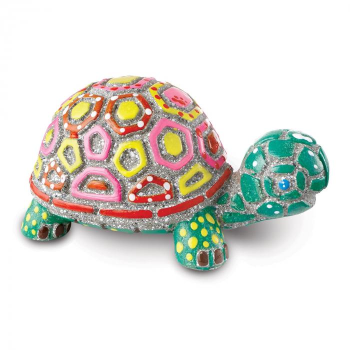 Paint Your Own Stone: Turtle,  decorațiune pentru pictat, din piatră, pentru grădină 2