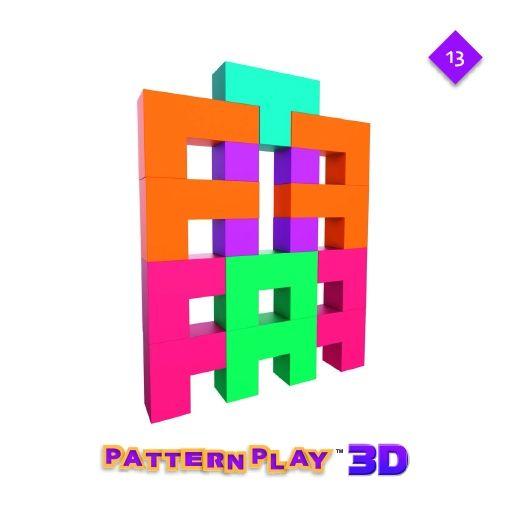 Pattern Play 3D, joc de construcție din lemn, cu structuri 3D [4]