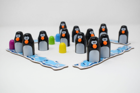 Pengoloo wood - joc de strategie cu pinguini, cu piese din lemn [3]