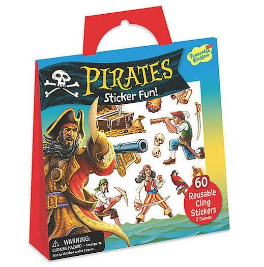Pirates Reusable Sticker Tote 0