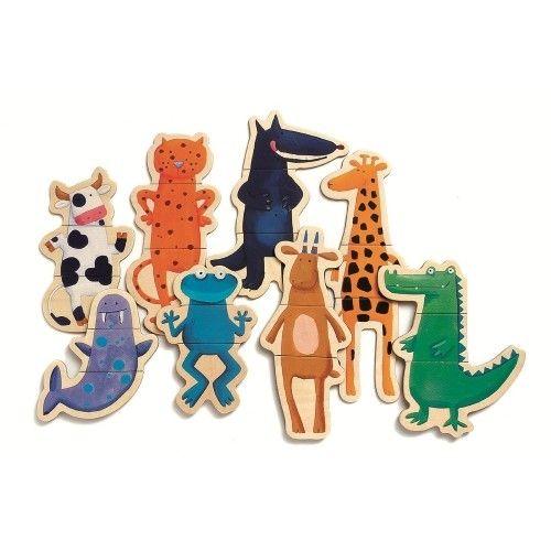 Puzzle cu magneți Animale- amuzante Djeco 1