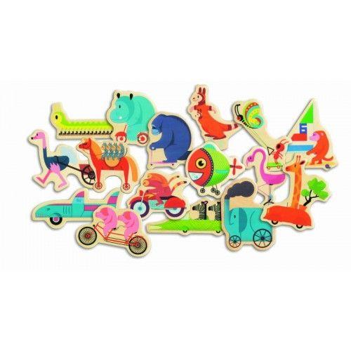 Puzzle cu magneți Vroumbazar Djeco [1]