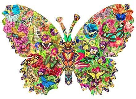 Puzzle din lemn Fluture Multicolor – Wentworth [0]