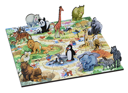 Puzzle din lemn Parcul cu Animale - Wentworth 1
