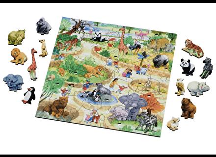 Puzzle din lemn Parcul cu Animale - Wentworth 2
