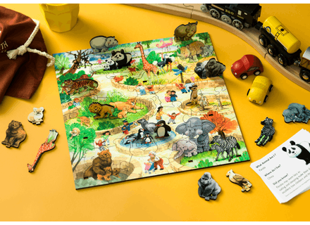 Puzzle din lemn Parcul cu Animale - Wentworth 3