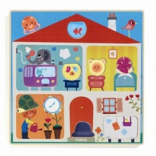 Puzzle Djeco Swapy, cu piese interschimbabile [0]