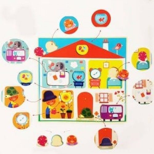 Puzzle Djeco Swapy, cu piese interschimbabile [1]