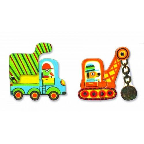 Puzzle duo mobil vehicule Djeco 1