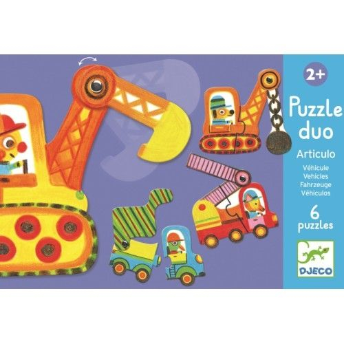 Puzzle duo mobil vehicule Djeco 0