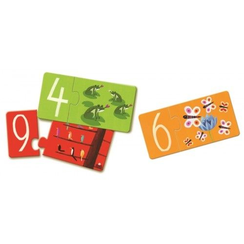 Puzzle duo Numere Djeco [1]