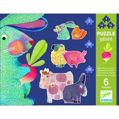 Puzzle gigant animale domestice Djeco 0