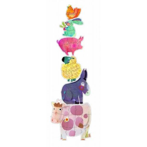 Puzzle gigant animale domestice Djeco 1