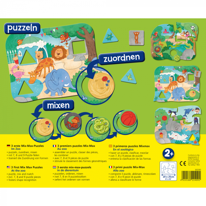 Primele 3 puzzle-uri, La Zoo 1