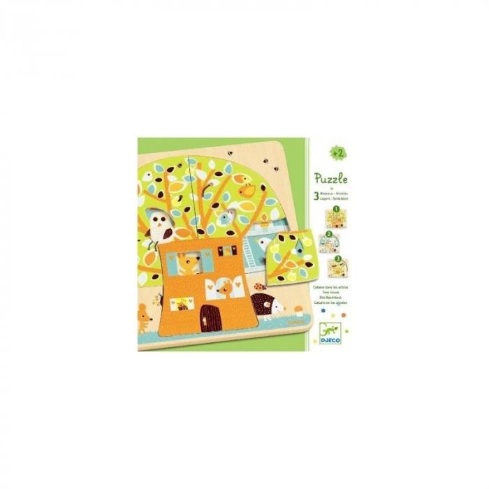 Puzzle lemn copacul Djeco 0