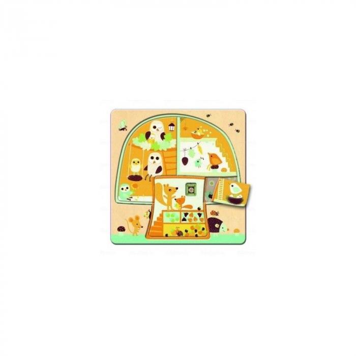 Puzzle lemn copacul Djeco 3