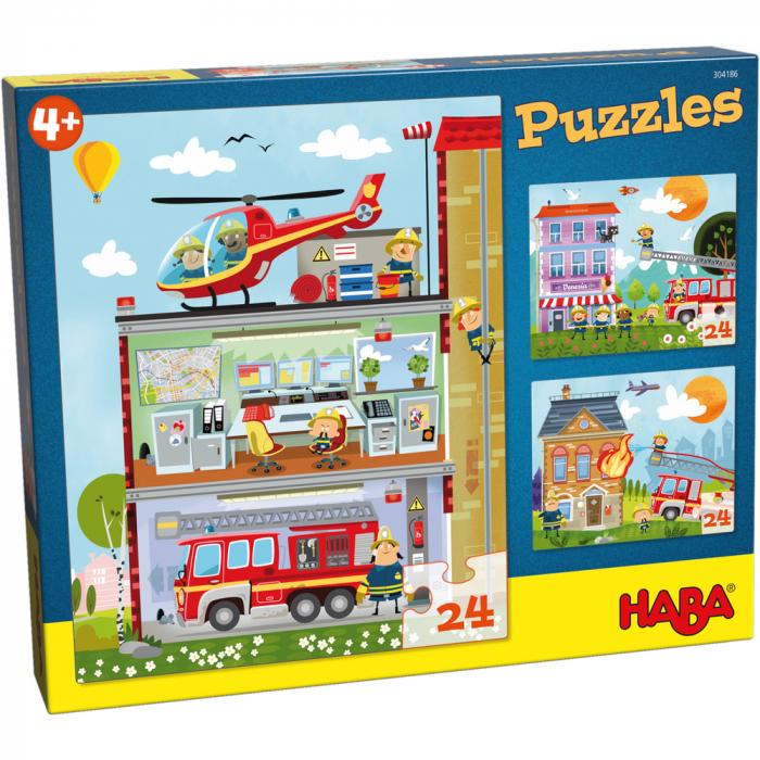 Puzzle Stația de pompieri 0