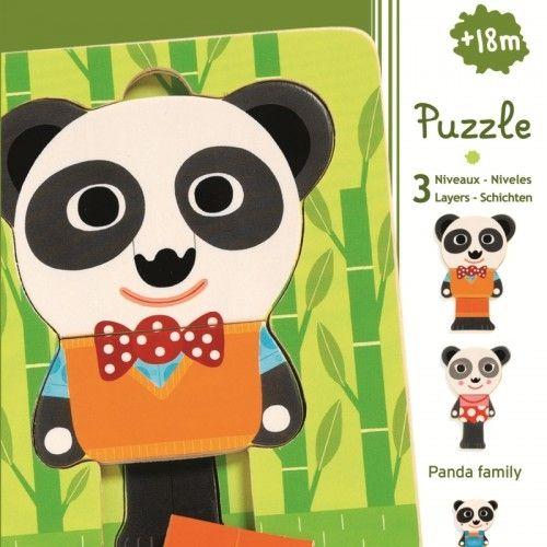 Puzzle straturi familia de panda Djeco [0]