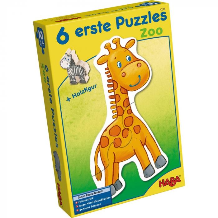 Puzzle-uri cu animale: La zoo - Haba 0