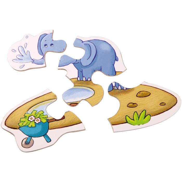 Puzzle-uri cu animale: La zoo - Haba 4