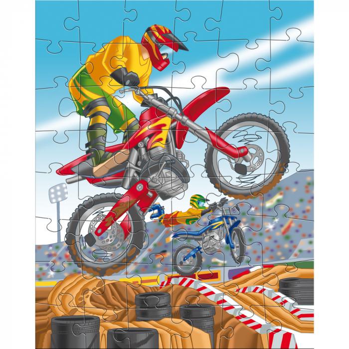 Puzzle ilustrat cu vehicule sportive 1