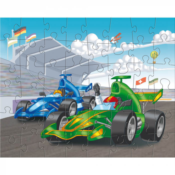 Puzzle ilustrat cu vehicule sportive 2