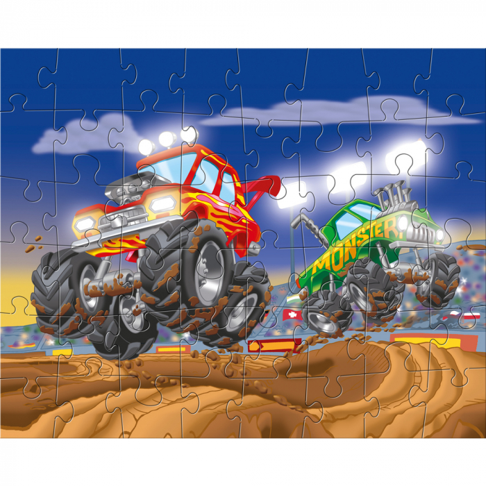 Puzzle ilustrat cu vehicule sportive 3