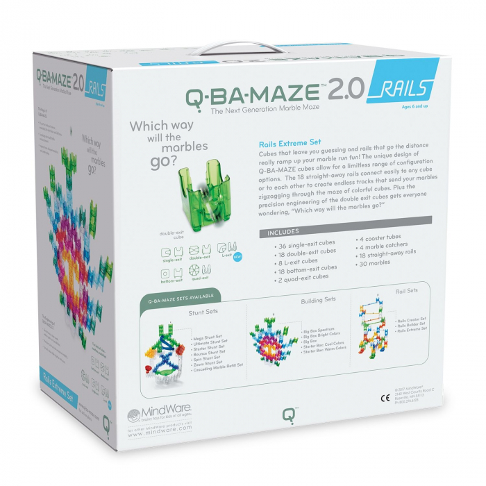 Q-BA-MAZE 2.0 RAILS EXTREME SET, joc de construcție cu bile 3