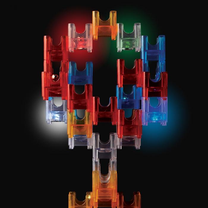 Q-BA-MAZE  2.0: Starter Lights, joc de construcție cu bile și cuburi luminoase 4