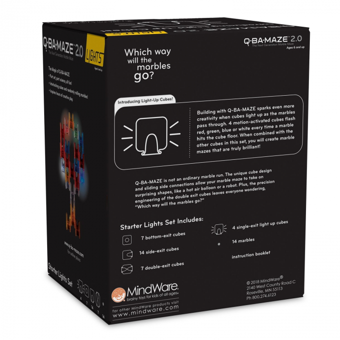 Q-BA-MAZE  2.0: Starter Lights, joc de construcție cu bile și cuburi luminoase 1