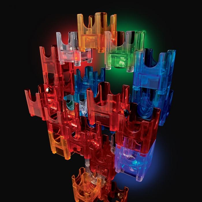 Q-BA-MAZE  2.0: Starter Lights, joc de construcție cu bile și cuburi luminoase 3