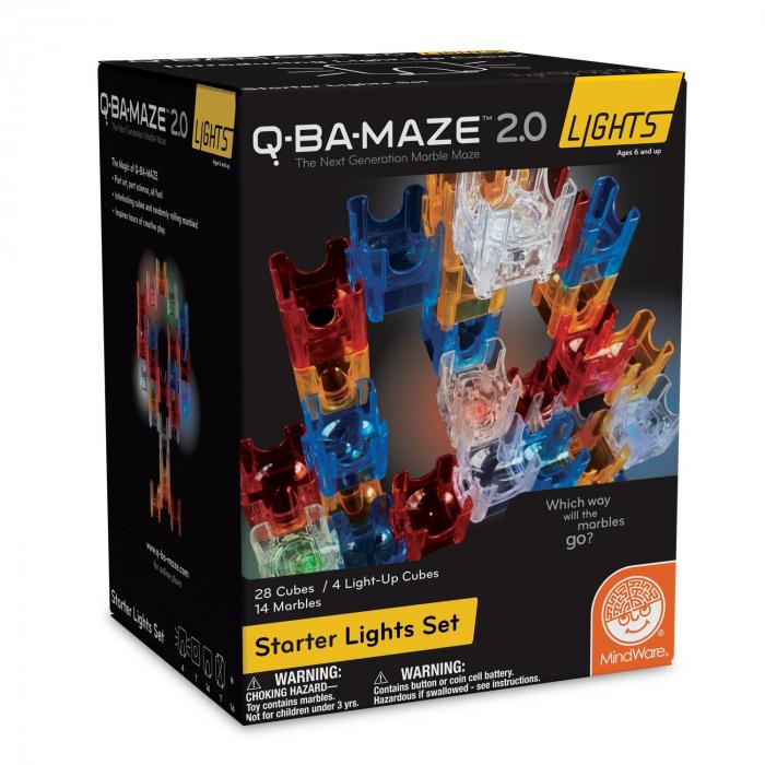 Q-BA-MAZE  2.0: Starter Lights, joc de construcție cu bile și cuburi luminoase 0