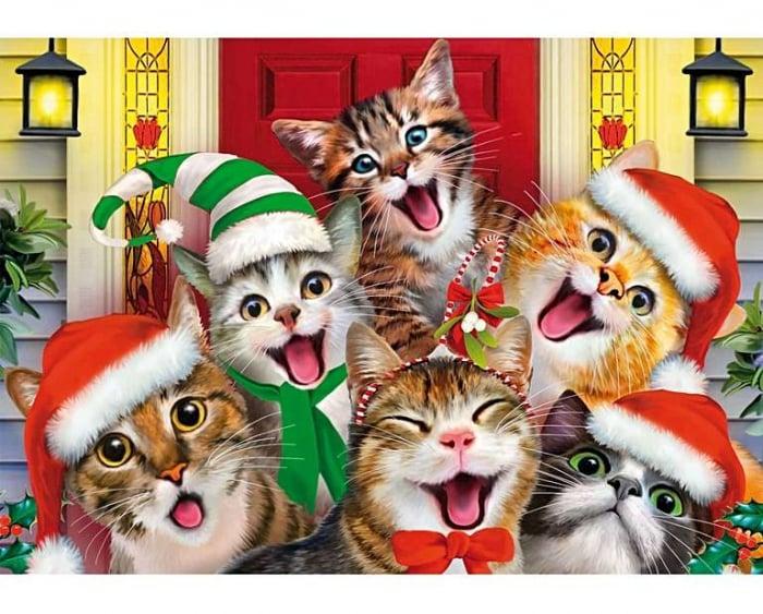 Selfie cu pisici, puzzle din lemn Wentworth 0