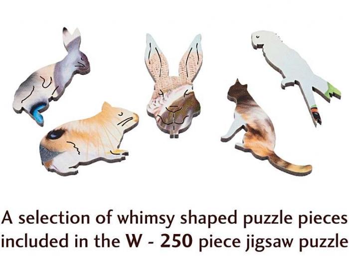 Selfie de iarnă cu animale, puzzle din lemn Wentworth 2