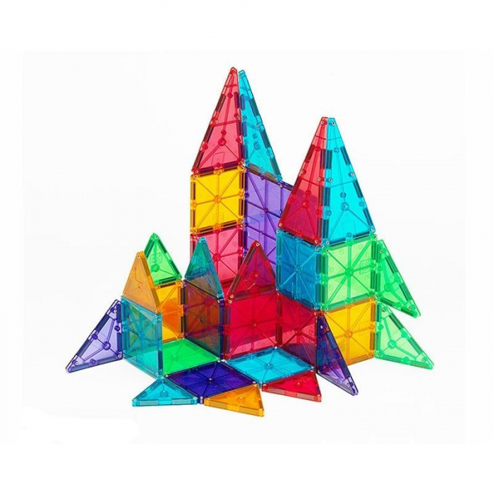 Set magnetic Clear Colors Magna-Tiles (32 piese) 2