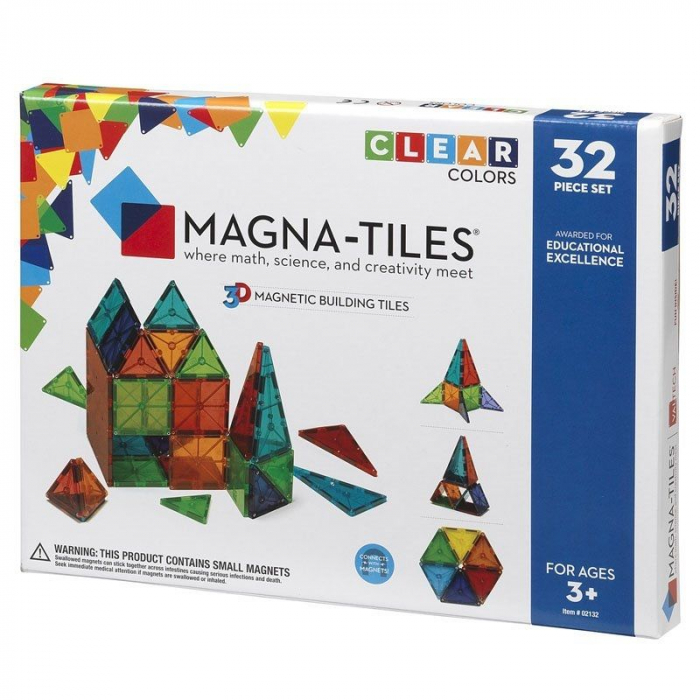 Set magnetic Clear Colors Magna-Tiles (32 piese) 0