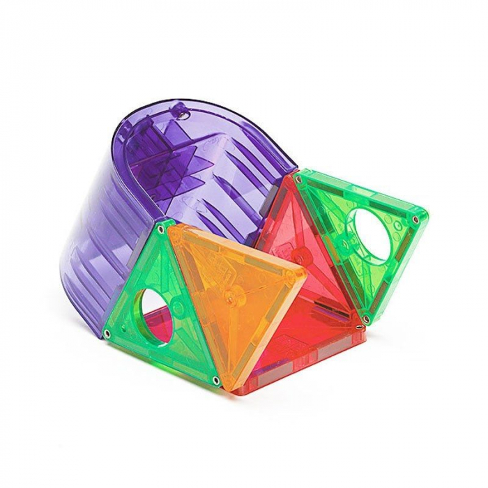 Set magnetic Clear Colors Magna-Tiles Deluxe (48 piese) 4