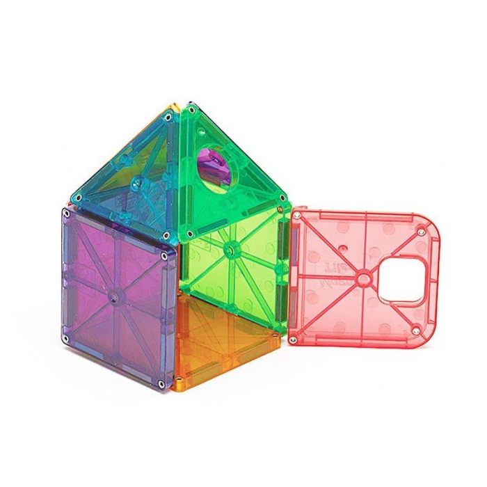 Set magnetic Clear Colors Magna-Tiles Deluxe (48 piese) 2